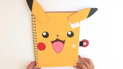 簡易DIY文具大變身! 可愛又實用比卡超筆記本