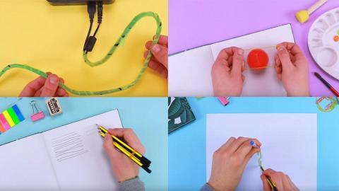 快速學識9個生活小技巧 電線收納/開樽蓋竅門/萬字夾畫圓!