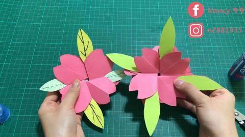 簡單DIY櫻花立體卡 粉紅花瓣藏告白心意!