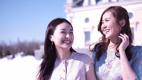陳瀅劉佩玥遊俄羅斯姊妹情滿瀉 雪地著婚紗留下難忘回憶