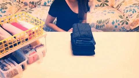 實用口袋式摺衫大法 任扔都唔散輕鬆收納衣物