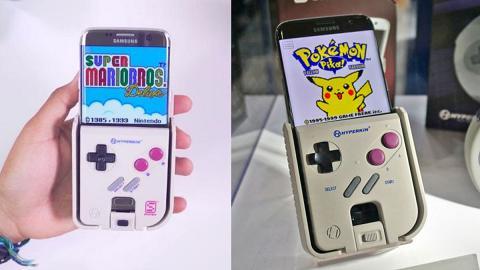 手機殼變身Gameboy 插遊戲卡帶玩Mario/Pokémon都得!