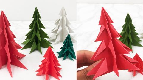 【聖誕禮物DIY】簡單DIY聖誕裝飾 聖誕樹摺紙教學!