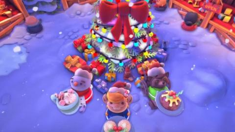 《Overcooked!2》聖誕免費新關卡登場 8大新廚房+新菜色!聖誕Party最啱玩