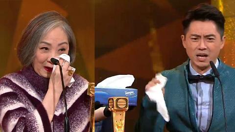 【萬千星輝頒獎典禮2018】TVB賣廣告手法層出不窮 森美扮喊即遞出紙巾