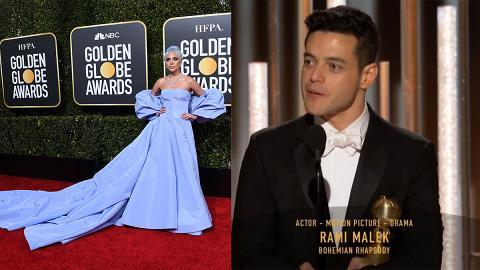 【金球獎2019得獎名單】Rami Malek封劇情組影帝 Lady Gaga大熱捧原創歌曲