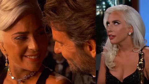 奧斯卡表演太有愛被傳戲假情真!Lady Gaga反白眼首次開腔推翻謠言
