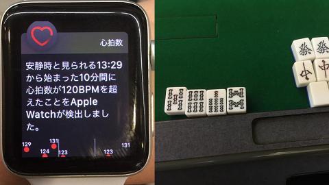 網民打麻雀叫糊太緊張心跳暴升 慘被Apple Watch發心率警告踢爆