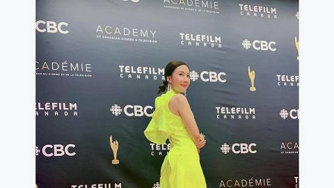 李施嬅出席加拿大銀幕獎頒獎禮爭最佳女配角 螢光造型豔壓全場獲評最佳衣著