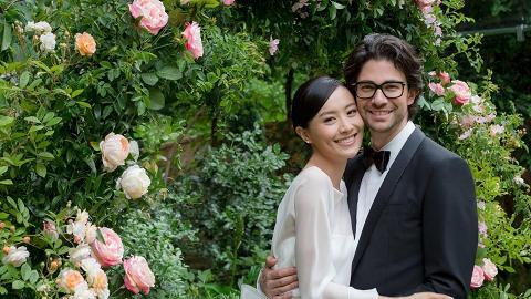 陳法拉與法籍男友巴黎低調完婚 新郎設計粉紅鑽戒贈愛妻甜蜜滿瀉