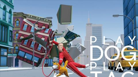 日本放狗遊戲《PlayDog PlayTag》 4人對戰搶骨頭!暴走柴柴拖行主人破壞城市