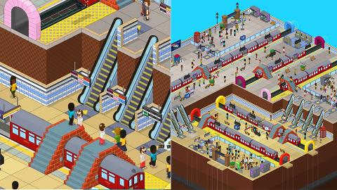 模擬地鐵新Game《Overcrowd: A Commute Em Up》設計車站地下街管理列車運作