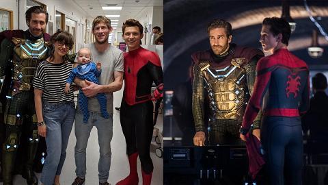 【蜘蛛俠:決戰千里】穿全套戰衣探訪兒童醫院 蜘蛛俠、神秘客獲讚低調真英雄
