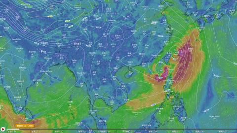 颱風丹娜絲分裂變雙颱風或產生藤原效應 天文台預測香港有狂風雷暴連落9日雨