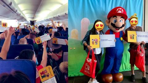 超驚喜!任天堂為全機乘客送禮物 搭飛機免費送一人一部Switch+Mario新遊戲
