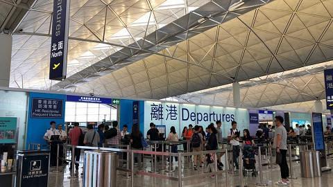 機管局宣布今日航班登記服務暫停 取消所有航班