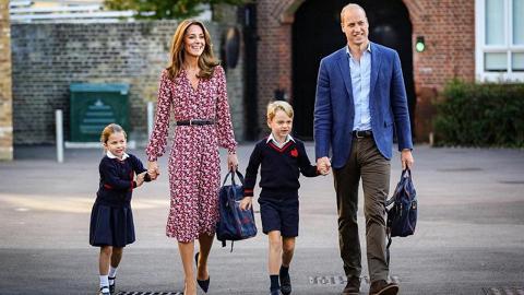 英國夏洛特公主緊張拖實凱特去開學!小公主校服Look超可愛