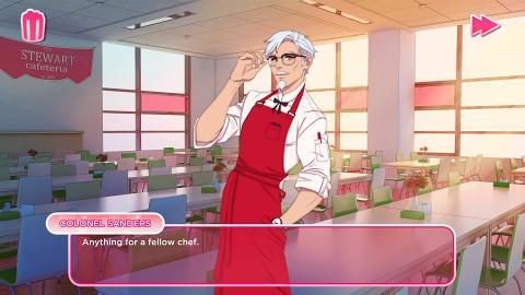 【PC】KFC官方推戀愛模擬遊戲 同肯德基爺爺拍拖!學煮炸雞進行料理決鬥