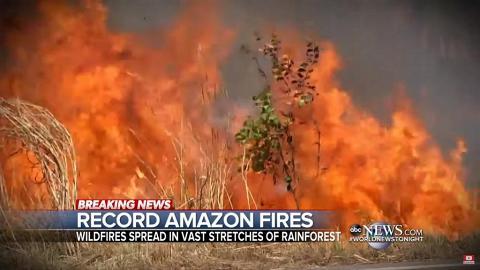亞馬遜森林大火燒近2個月仍然肆虐 全球再有8個地方同樣發生大火