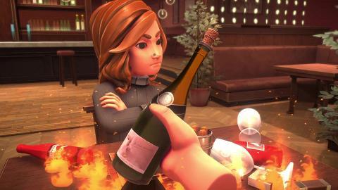 模擬約會遊戲《Table Manners》高難度練餐桌禮儀 超難控倒紅酒餵食物玩到著火