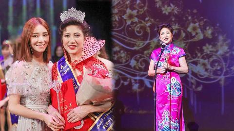 倪晨曦美貌遺傳自媽咪!62歲倪媽媽奪全球辣媽大賽冠軍