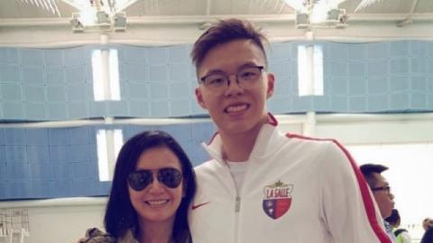 54歲單親媽曾華倩無限量支持兒子 21歲林浩賢任港隊代表曾於世界賽奪金