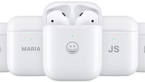 【Apple AirPods】蘋果AirPods保護盒免費刻字 新增Emoji圖案打造專屬充電盒