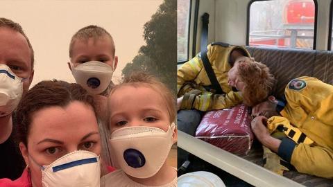 澳洲大火消防員連踩10日累透頂絕望痛哭 山火襲營地遊客旅行被困變逃亡