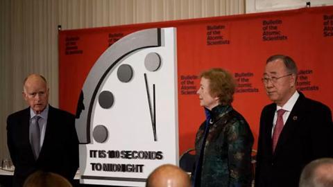 末日時鐘2020年更新再撥前20秒 距離人類滅亡世界末日僅餘100秒