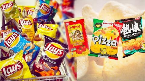網民熱推10大世界各地人氣薯片品牌排名 香港熱浪/Pizza味薯片都上榜!