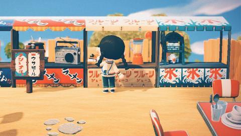 【動物之森/動物森友會】無人島開咖啡店/屋台/壽司店!25款路邊攤素材推介