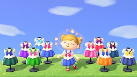 【動物之森/動物森友會】 60款動漫卡通角色服裝 美少女戰士/百變小櫻走入動森