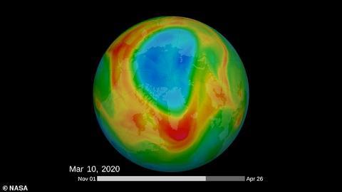 北極上空出現歷來最大臭氧層破洞 科學家發現1個月內竟自行修復