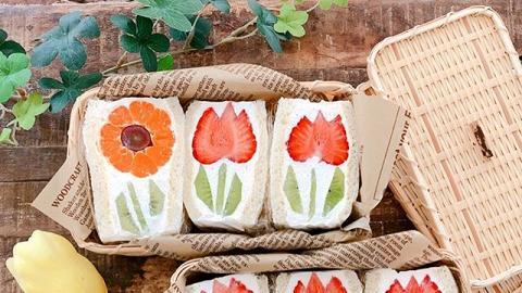 日本媽媽公開大熱唯美鬱金香三文治食譜 做法+材料簡單 造型超可愛精緻!