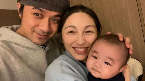 古巨基首度公開全家福Kuson超萌 甜蜜賀母親節:感謝太太的一切