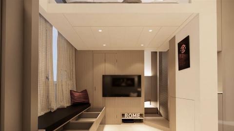 258呎納米樓無大牆兼橫樑壓頂 5大改造重點!加建閣樓變出睡房+士多房