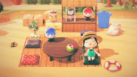 【動物之森/動物森友會】40款夏季服飾/裙子!粉色系浴衣+得意刨冰/海鮮丼帽