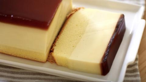 零失敗自製台灣大熱焦糖布丁蛋糕 材料好簡單!冰涼軟綿三層口感(內附食譜)