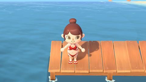 【動物之森/動物森友會】40款夏日泳衣衣服素材 Bikini/格仔連身款/男裝腹肌
