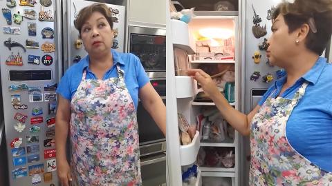 肥媽拍片曬家中超豪華巨型廚房 食材塞爆4個雪櫃夠全家32人唔出門食2個月
