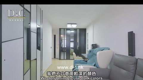 380呎新型公屋花45萬裝修變黑白型格家居 空間實用住一家四口完全唔侷促