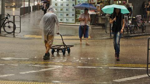 今個星期六、日放假繼續落雨!天文台料星期五起連續4日狂風雷暴