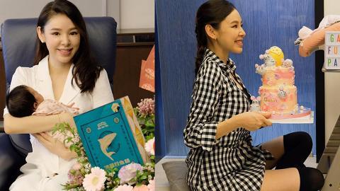 39歲譚凱琪慶祝囡囡Baby G滿月 產後1個月極速修身曬纖幼長腿