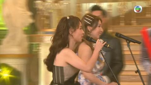 【無綫台慶2020】譚嘉儀谷婭微邊追單車邊唱歌好尷尬 網民嘲TVB玩殘星夢歌手:鬧劇一場