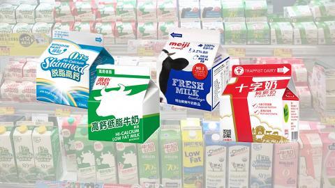 高鈣低脂與鮮牛奶熱量相差僅7卡! 一文睇清市面16款常見牛奶卡路里排名