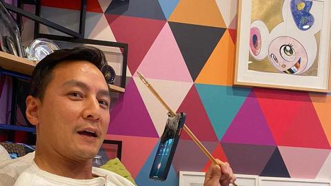 46歲男神吳彥祖30年後再玩射箭 一箭射穿電話MON竟然仲用到