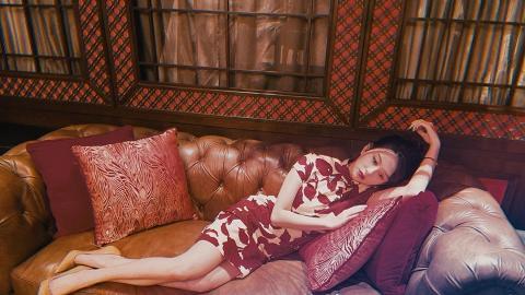 邱淑貞為愛女操刀影寫真重現《花樣年華》 沈月古典旗袍騷身材一個部位疑變形惹P圖疑雲