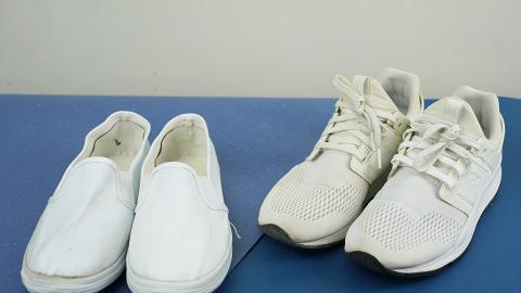 【洗白鞋】2個平價簡單洗白鞋方法 12蚊店清潔劑/梳打粉/白醋/衣物漂白粉