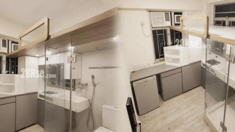 名校區80呎劏房床底設浴室廁所 月租$3800 網民見到怕怕:要跪住沖涼