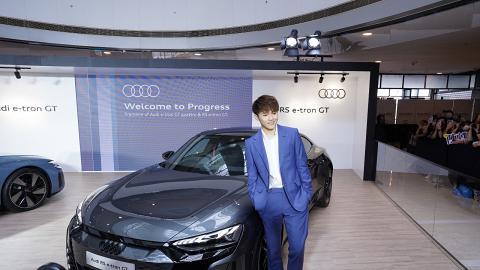 Ian陳卓賢現身IFC出席Audi電動汽車宣傳活動 禮儀紳士腳遷就高度獲網民讚Gentleman